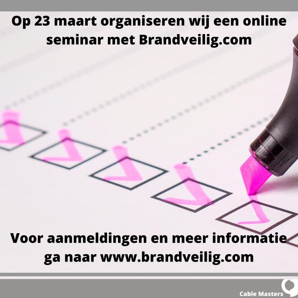 Brandveilig.com online seminar